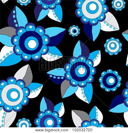 Vector Seamless Russian Flower Pattern. Slavs Design