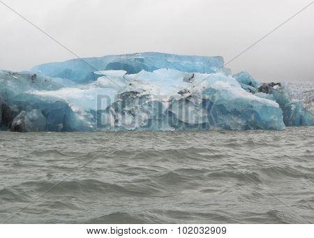 Coastal Iceberg Scenery