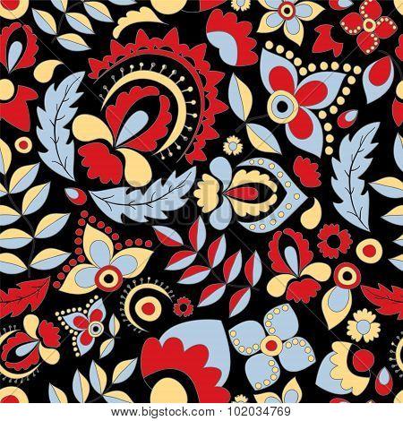 Seamless Russian Pattern.orient Design. Vector Illustration