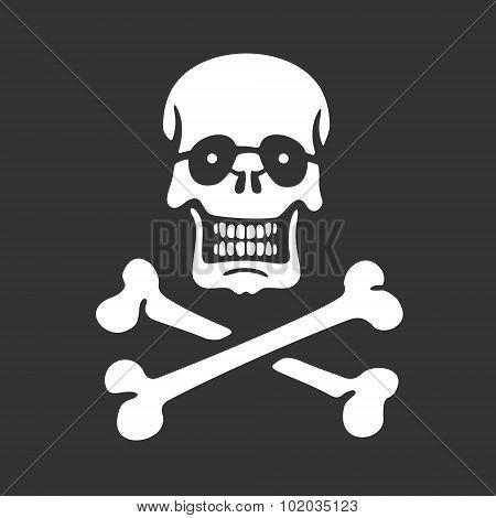 Vector Stencil Skull and Bones