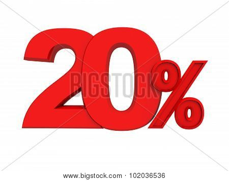 red sign 20 percent