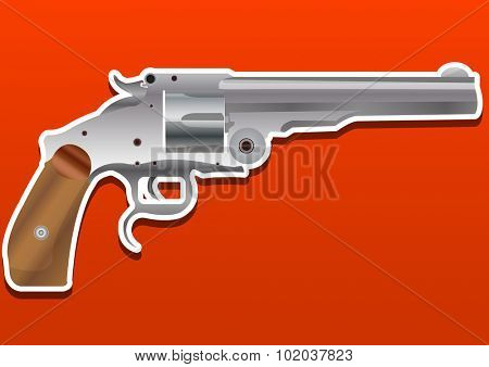 Gun, Handgun, Pistol or Revolver, vector illustration