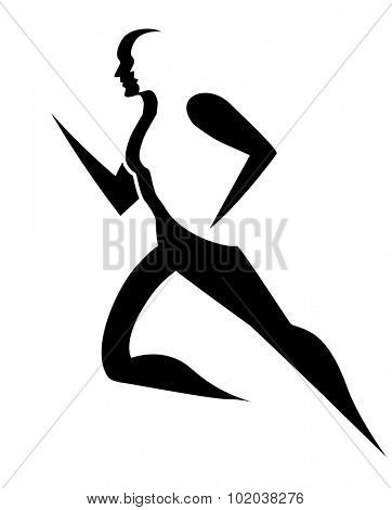 Running, symbol of a man running, vector illustration