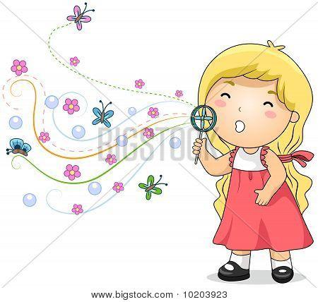 Bubble Blowing Kid