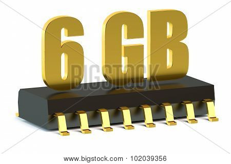 6 Gb Ram Or Rom Memory Chip For Smartphone And Tablet