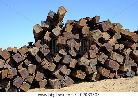 Stacked Railroad Ties