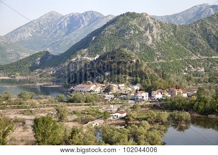 Virpazar village on Skadar lake, Montenegro