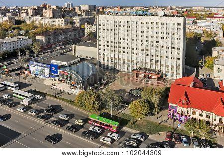 Building of Transneft-Siberia. Tyumen. Russia