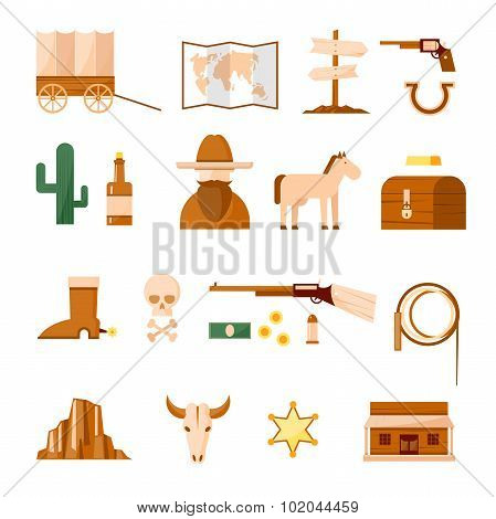 Wild west set of icons