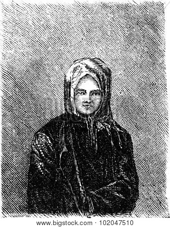 Inside the church of Tierra Blanca, vintage engraved illustration. Le Tour du Monde, Travel Journal, (1865).