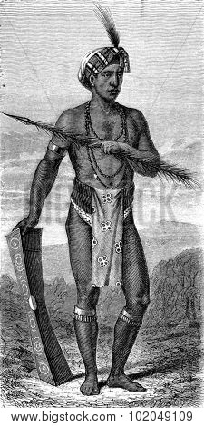 Native Manado (sulawesi), vintage engraved illustration. Le Tour du Monde, Travel Journal, (1872).