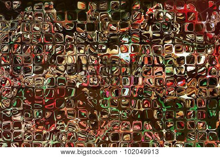Multicolored Square Shape Pattern As Abstract Background.