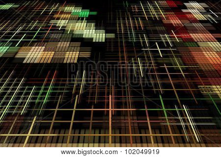 Multicolored Matrix Abstract Background.