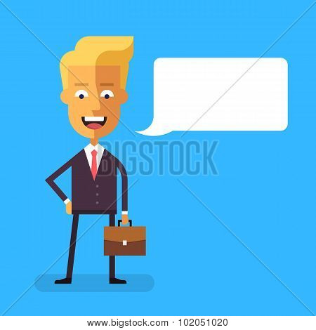 Handsome scandinavian businessman  with briefcase