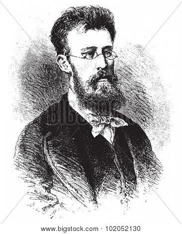 A Russian lawyer, vintage engraved illustration. Le Tour du Monde, Travel Journal, (1872).
