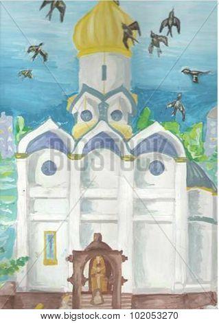 Gouache painting - illustrations