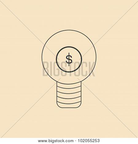Flat in black and white light money