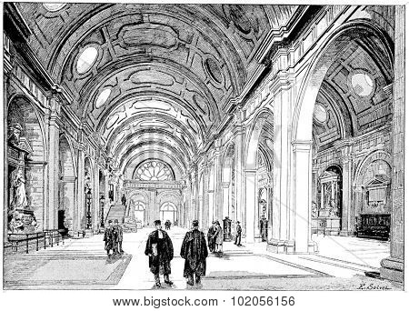 Concourse, vintage engraved illustration. Paris - Auguste VITU  1890.
