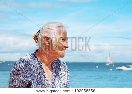 Senior Woman Seaside