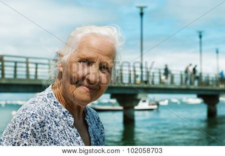 Senior Woman Seaside