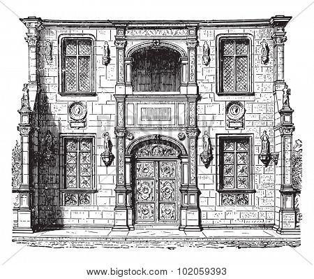 Portal Gaillon, vintage engraved illustration. Industrial encyclopedia E.-O. Lami - 1875.