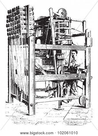 Art for the mechanical manufacturing corsets without seams, vintage engraved illustration. Industrial encyclopedia E.-O. Lami - 1875.