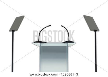 Podium Set - Public Speaking Concept.
