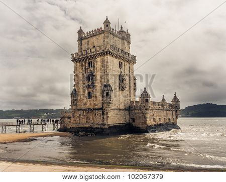 Belem Tower is a fortified tower located in Lisbon, Portugal