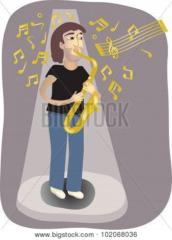 The Saxophone Player.eps