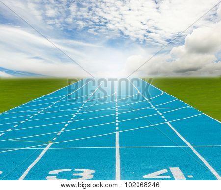 Blue New Running Track