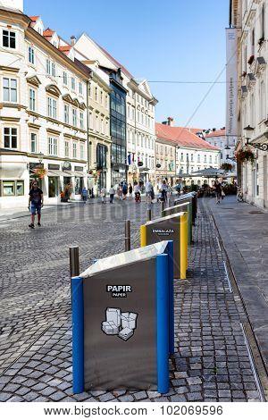 Modern Underground Garbage Containers Ljubljana