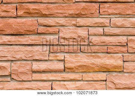 Sandstone Brickwork Close Up