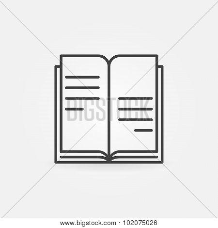 Book icon or logo
