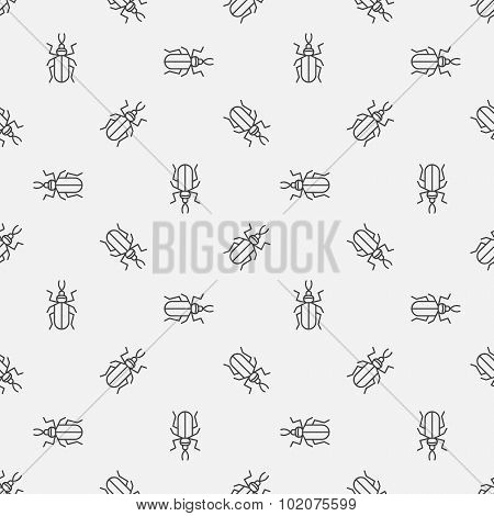 Insect seamless pattern