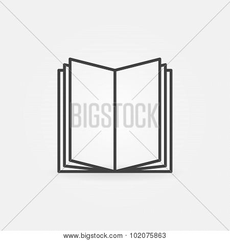 Open book linear icon