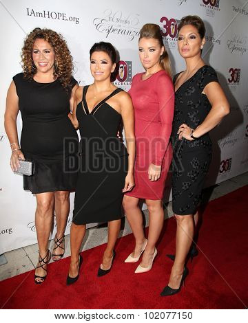 LOS ANGELES - SEP 17:  Diana-Maria Riva, Eva Longoria, Jadyn Douglas, Alex Meneses at the Padres