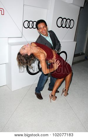 LOS ANGELES - SEP 17:  Karina Smirnoff, Victor Espinoza at the Audi Celebrates Emmys Week 2015 at the Cecconi's on September 17, 2015 in West Hollywood, CA