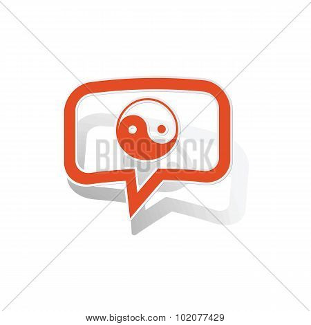 Ying yang message sticker, orange