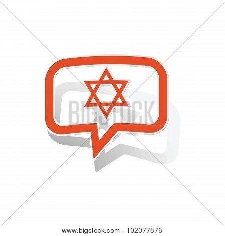 David Star message sticker, orange