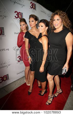 LOS ANGELES - SEP 17:  Jadyn Douglas, Alex Meneses, Eva Longoria, Diana-Maria Riva at the Padres