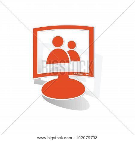 Contacts monitor sticker, orange