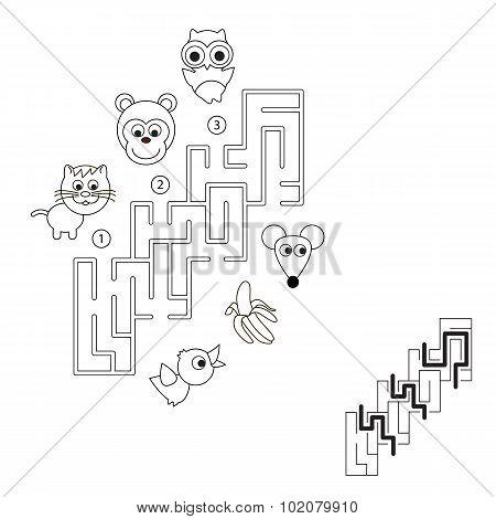 Maze-game for children.