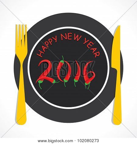 happy new year 2016 greeting design
