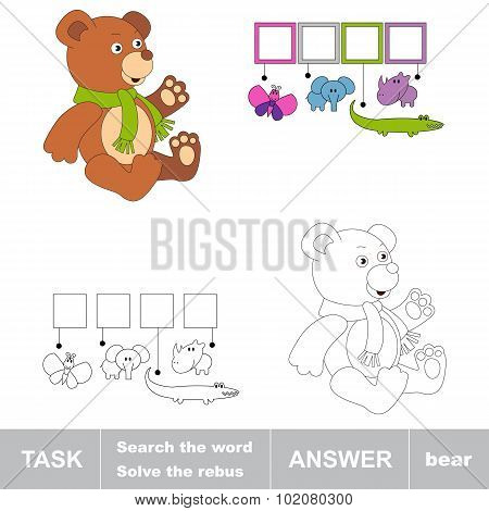Search the word BEAR. Task and answer.