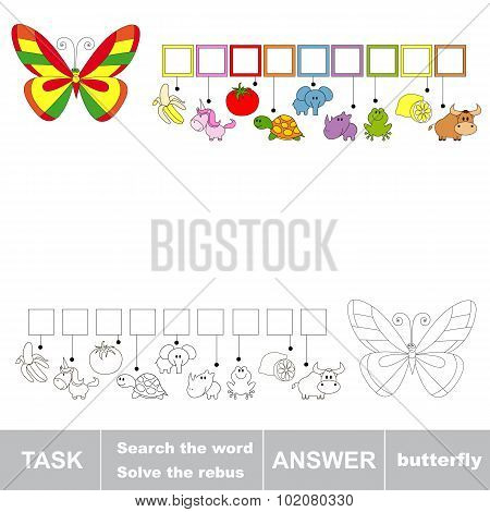 Search the word BUTTERFLY. Find hidden word.