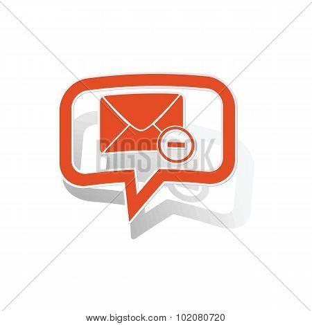 Remove letter message sticker, orange