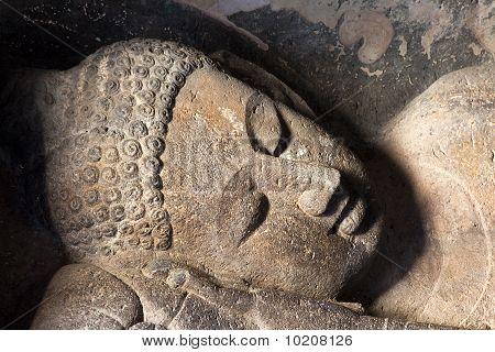Reclining Buddha at Ajanta caves.