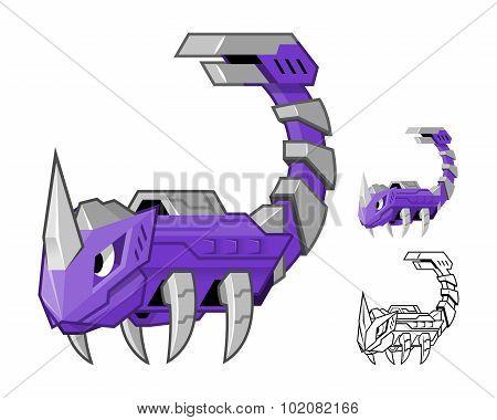 Robot Scorpion Cartoon Character