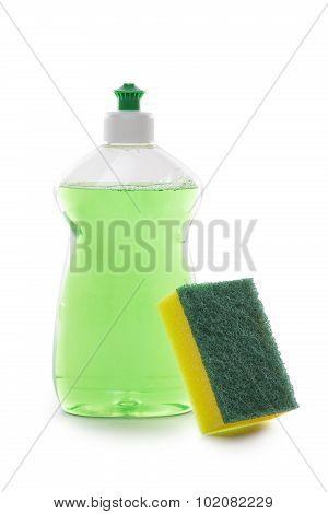 Cleaning Liquid And Sponge
