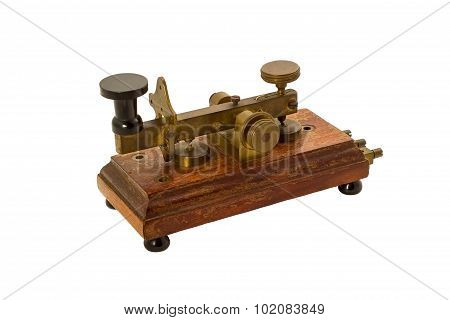 Antique Telegraph Isolated.